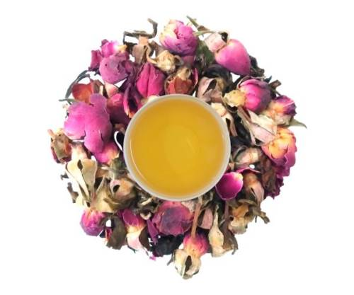 rose leaf tea